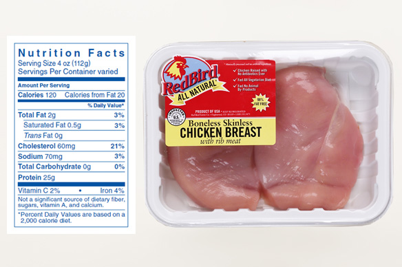 Antibiotic Free Red Bird Farms Boneless Skinless Breasts