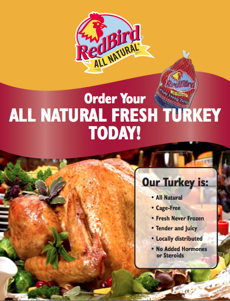 natural and fresh red bird farms turkey