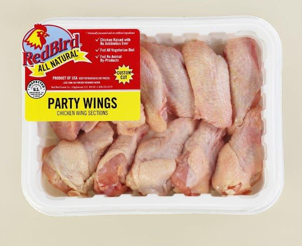 Antibiotic Free Red Bird Farms Party Wings