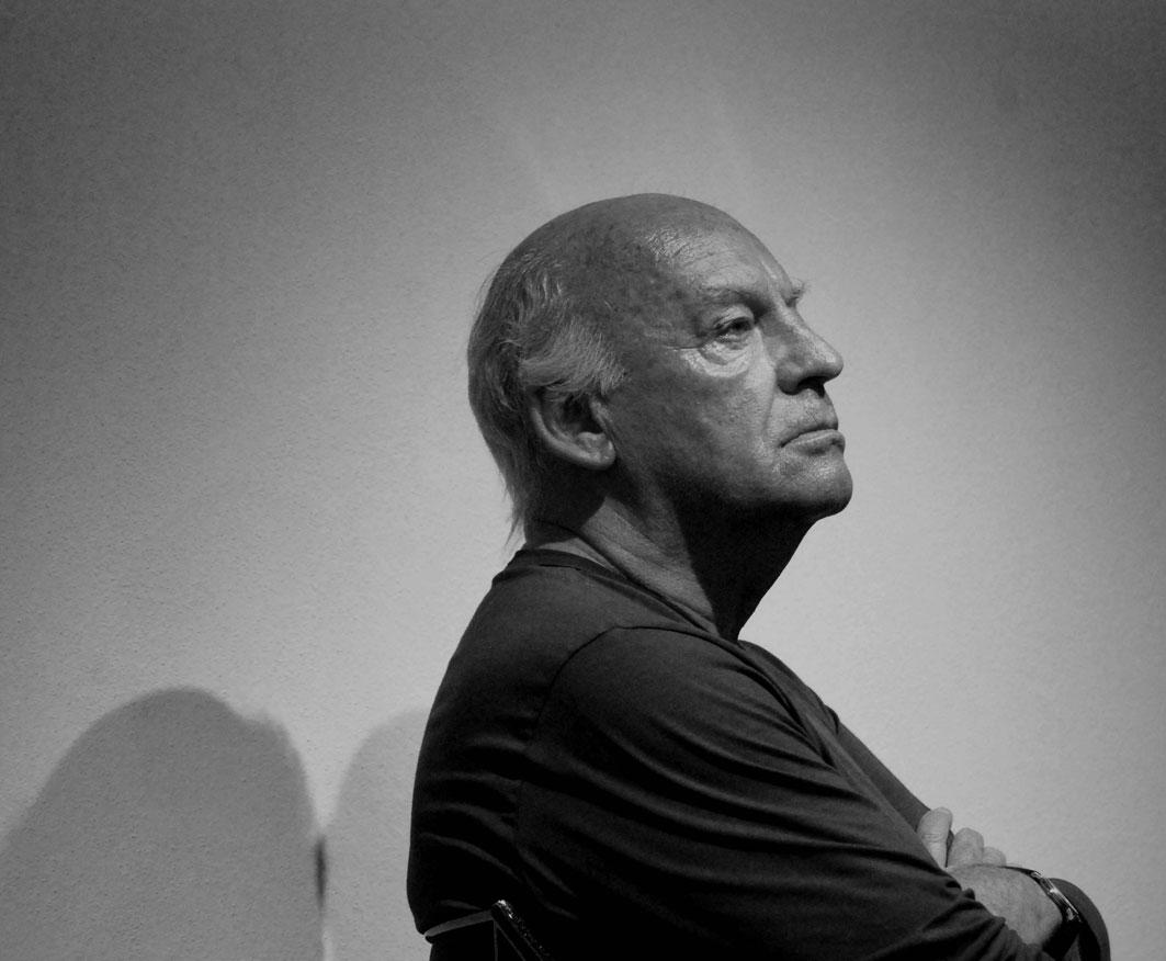 A photo of Eduardo Galeano by Jose Francisco Pinton.Licensed through Wikimedia Commons.