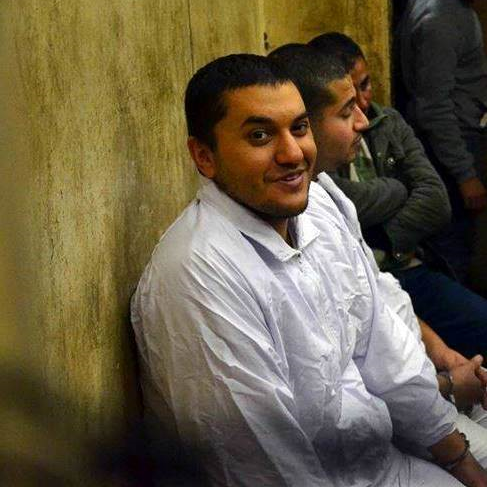 Omar Hazek, in white. Image courtesy of Arablit.org.