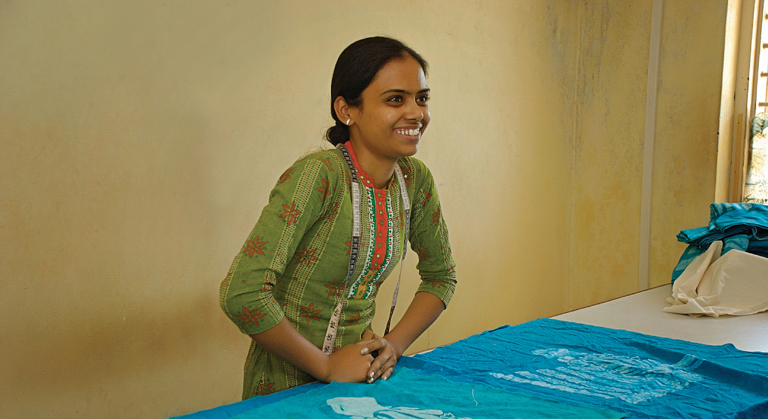At 27 years young, Ankita has excelled and become a batik cutting master. Her eagerness to learn and grow has opened many doors for her.