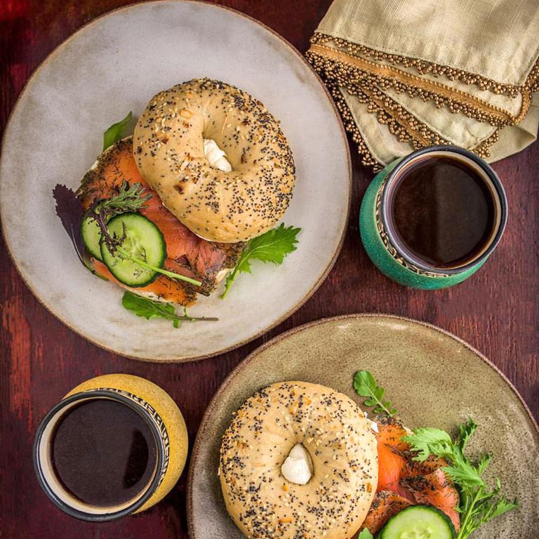 DennisThePrescott - White Chamois and Moss green bagels w lox.jpg