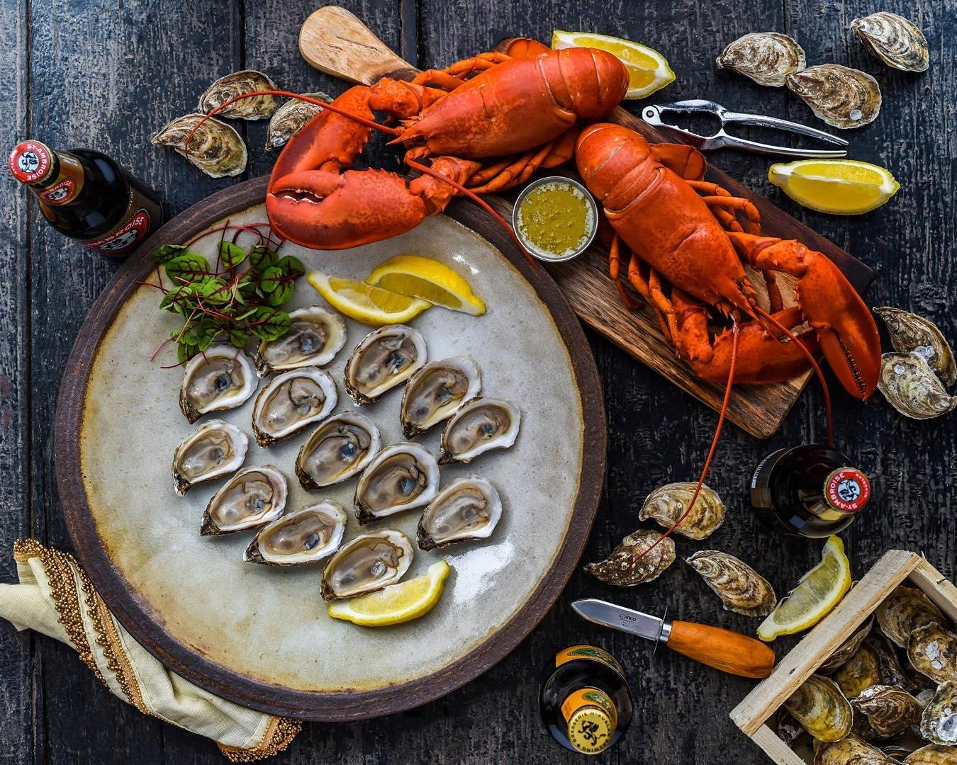 Serving Platter - White Chamois - Oysters and Lobster - DennisThePrescott.jpg
