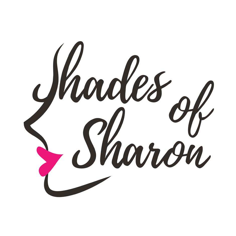 Shades of Sharon doet visagie: gezichten, lippen, ogen. In het logo zijn deze elementen samengebracht met haar bedrijfsnaam.