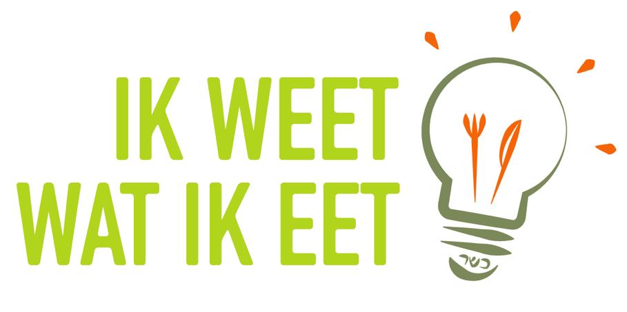 Ik Weet Wat Ik Eet is een weblog met koosjere kookideeën. In het logo zijn de elementen 'eten', 'inspiratie' en 'koosjer' verwerkt.