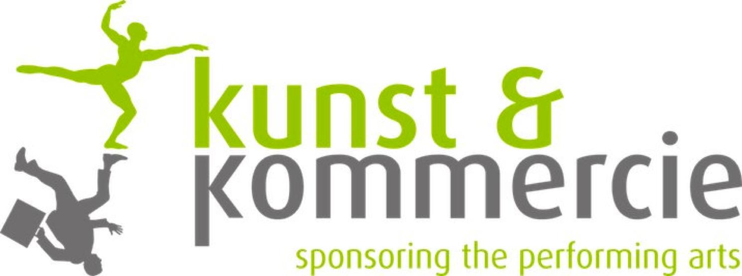Kunst en Kommercie, een bedrijf dat kunstinstelling koppelt aan bedrijven ten behoeve van sponsoring. In het logo zijn de kunstenaar en de zakenman één gespiegeld persoon. De spiegeling komt ook tot uiting in de de K van Kunst en Kommercie.