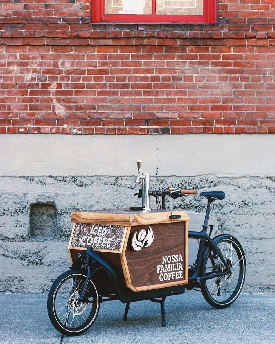 Nossa Familia Coffee Iced Coffee Cargo Bike