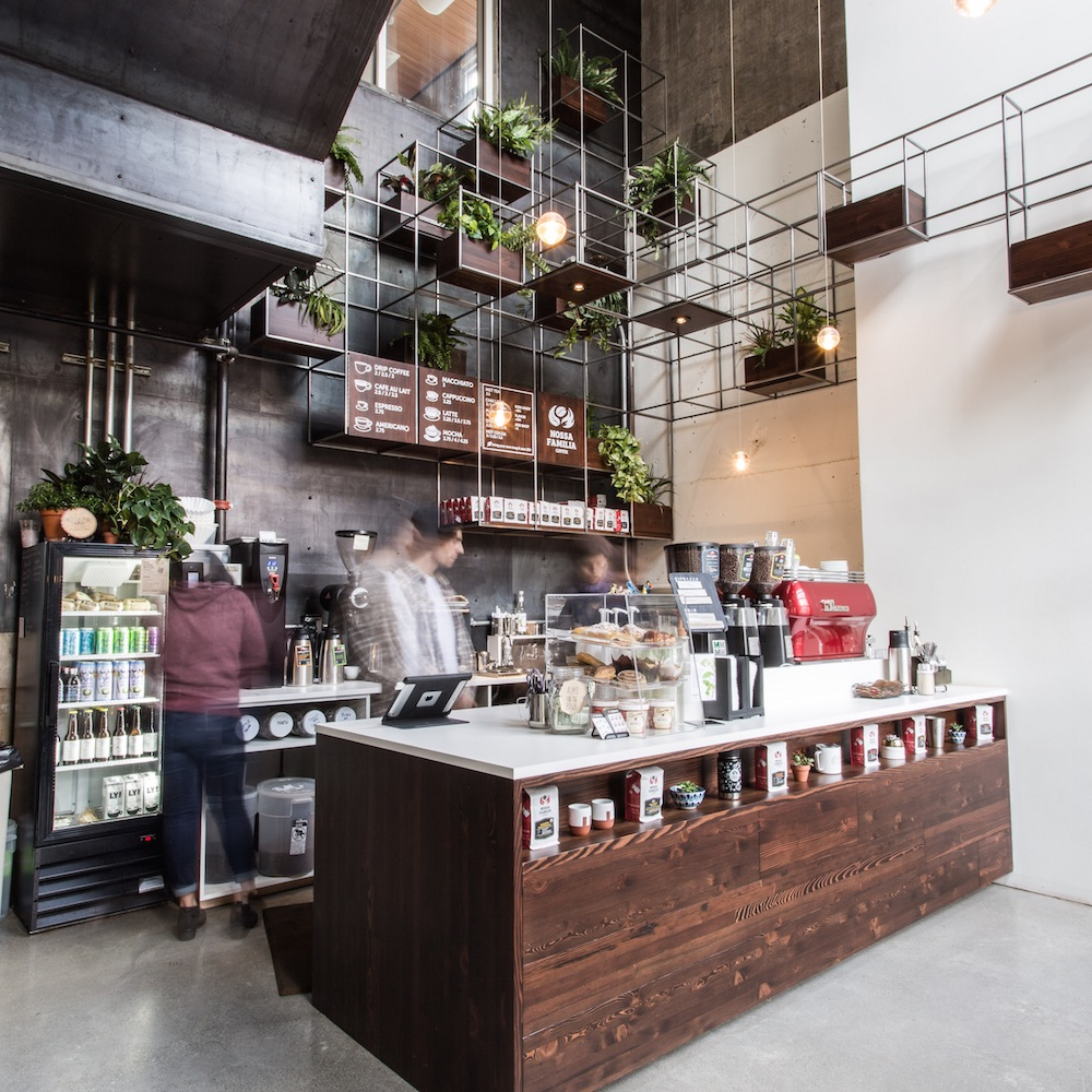 Nossa Familia Coffee - Pearl District Espresso Bar at NW 13th & Lovejoy in Portland, Oregon