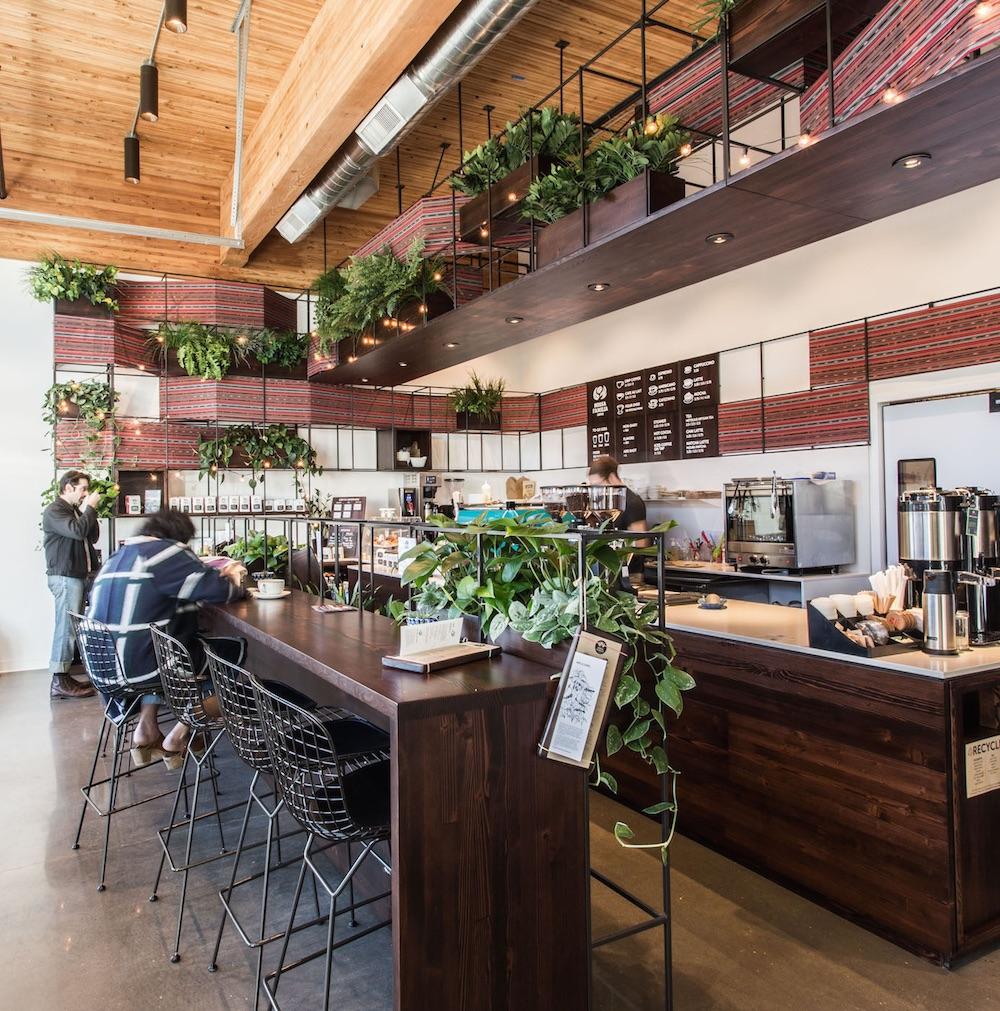 Nossa Familia Coffee - Central Eastside Café at SE 3rd & Clay in Portland, Oregon