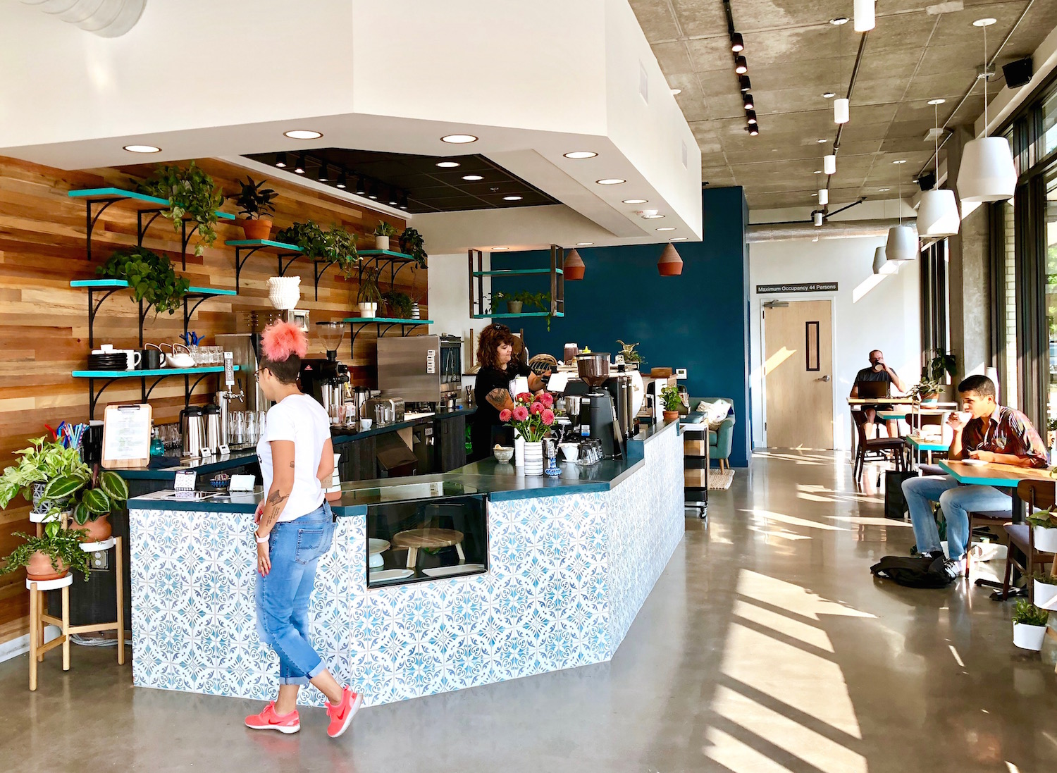 Nossa Familia Coffee's Seven Corners Café in Portland, Oregon. Opened in August 2018, which is aiming to become a Zero Waste & Carbon Neutral café.