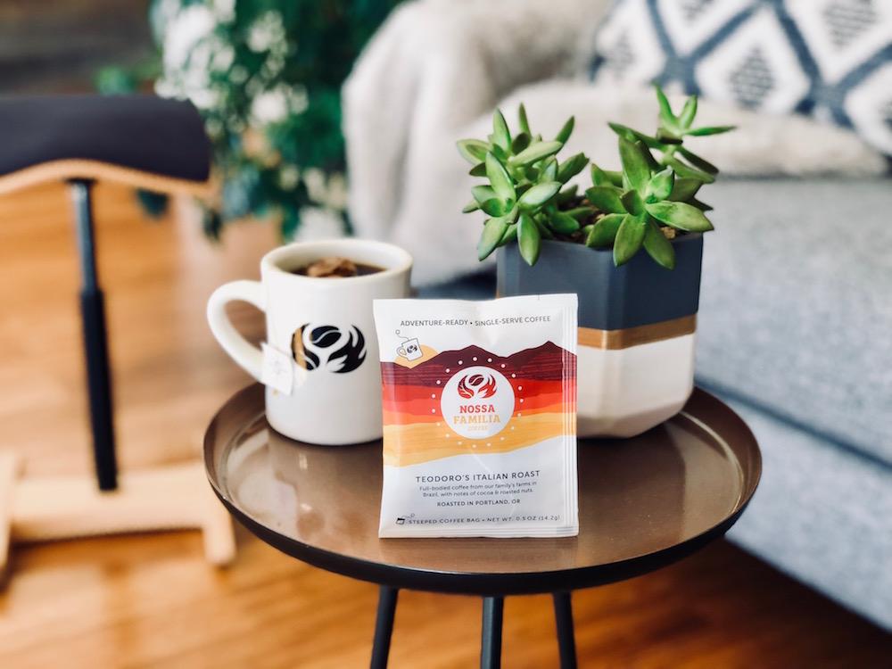 Nossa Familia Coffee - single-serve Steeped coffee packs