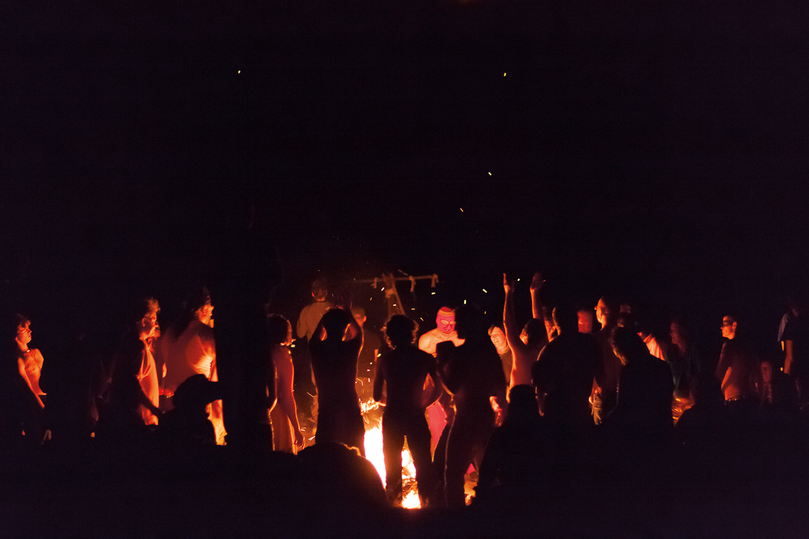 Bonfire revelry