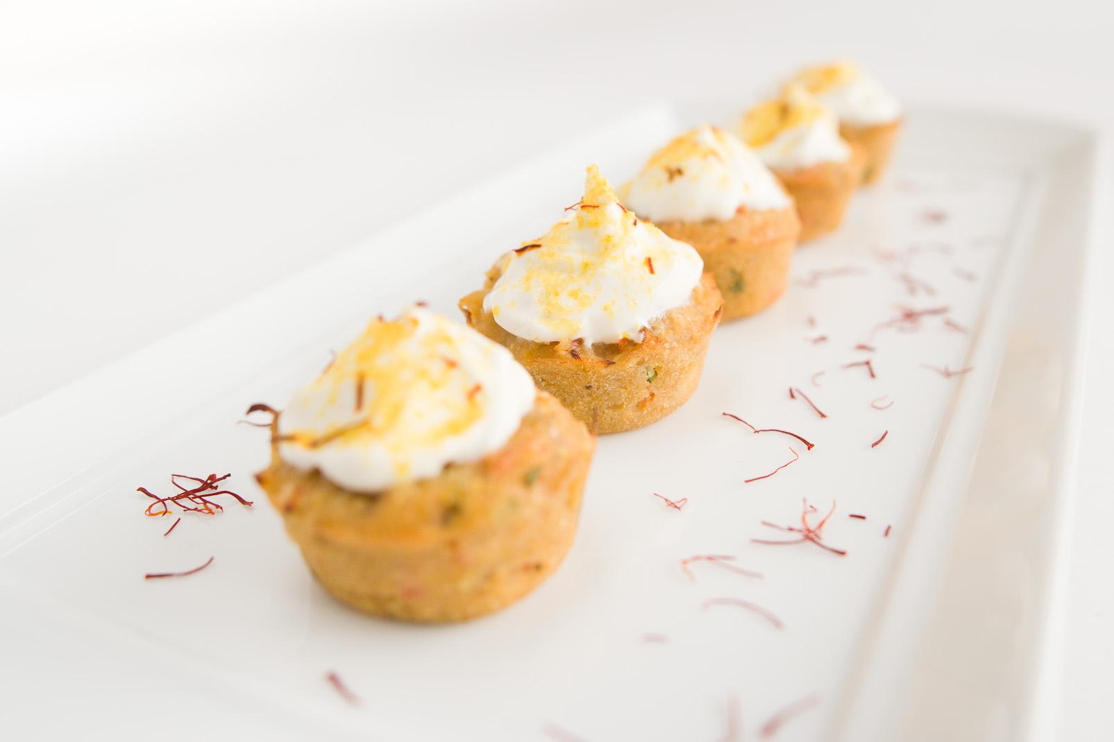 saffron crabcakes, client: Boka