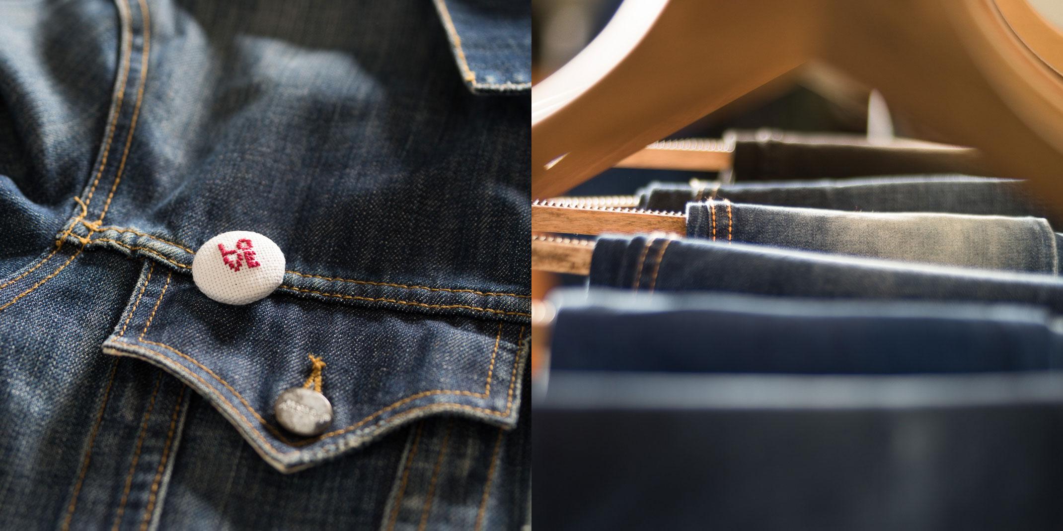 Detail shots of denim products, client: LNJ Denim