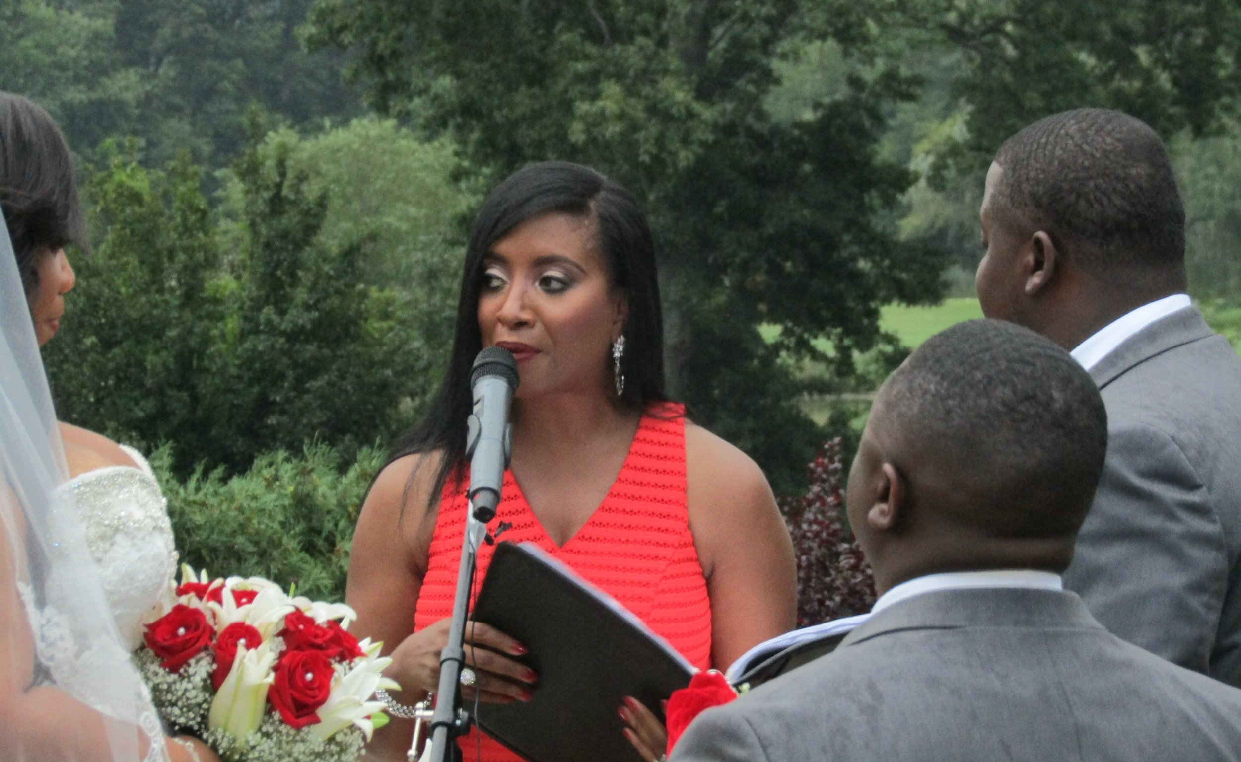 Officiant:  Aretha Gaskin | Weddings By Aretha