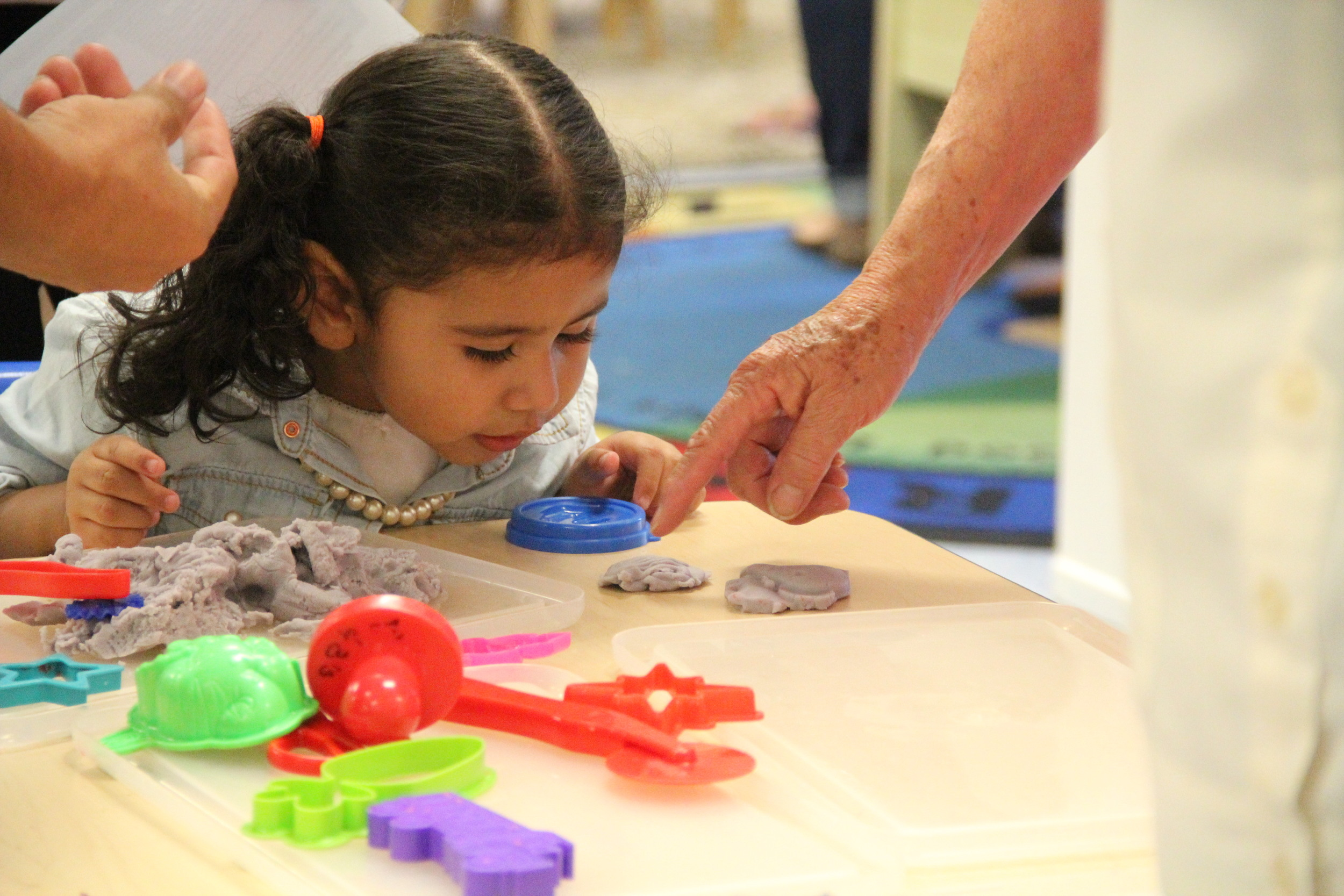 We use lots of tactile toys and activities in order to engage the kids.