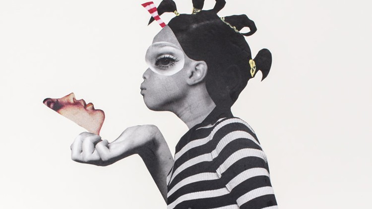 """The power and pathos of girlhood defines Deborah Roberts' collages - BY Felicia Feaster POSTED March 6, 2018Perhaps the ideal show for this #metoo moment, Deborah Roberts' exhibition at the Spelman College Museum of Fine Art, """"The Evolution of Mimi,"""" is at its heart a look at how black female identity is formed"""