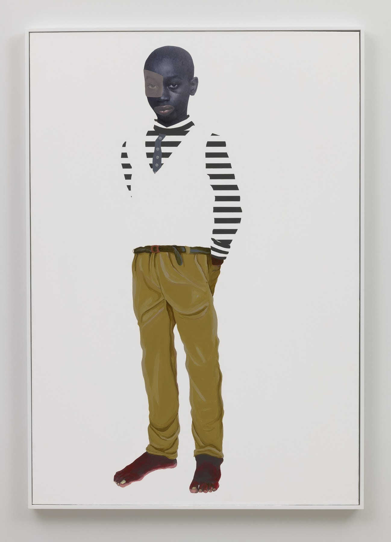 """Native Sons: Many thousands gone"" at Vielmetter Los Angeles - BY Victoria L. Valentine CULTURE TYPE April 23 2019VIELMETTER LOS ANGELES announced its representation of Deborah Roberts in late February and her first exhibition with the gallery opened last week.[Image caption] ""From feet to wings (Nessun Dorma Series),"" 2018 (Mixed media collage on canvas, 65 x 45 inches)"