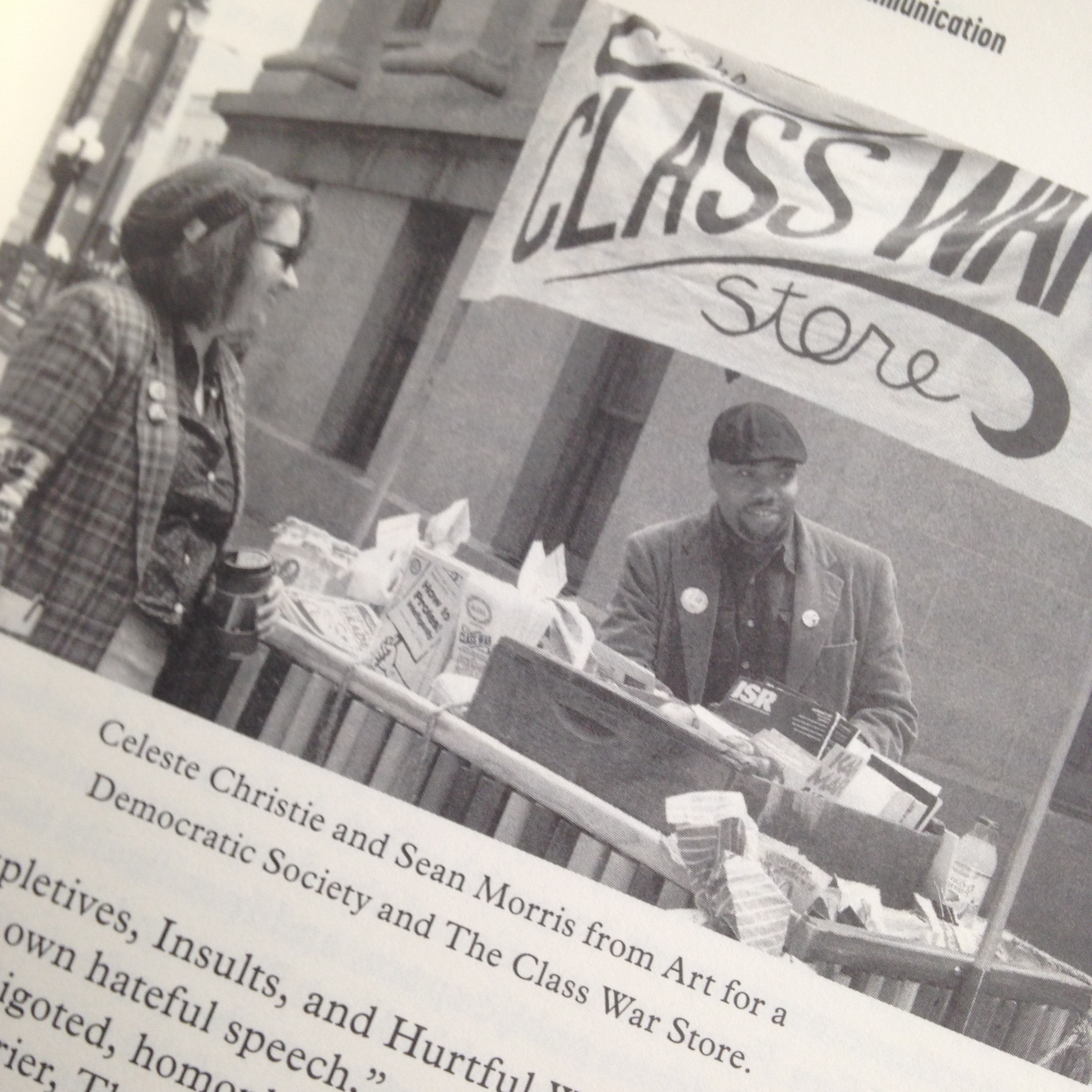 Sean and I at Mint Plaza during the Cries' Market Day, from the book