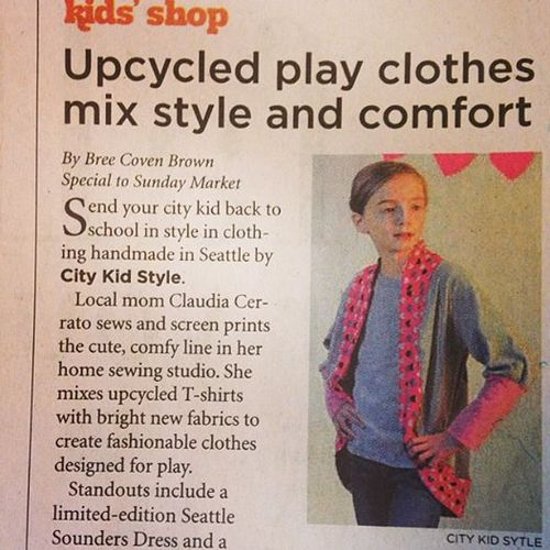 And finally, City Kid Style was recently featured in the Sunday Seattle Times! Yay City kid! And Yay Parker...she was so excited to be in the newspaper!