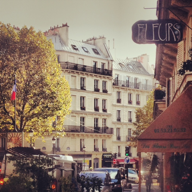 The top of Rue des Martiers, in our hood. An average city street doesn't get much prettier!