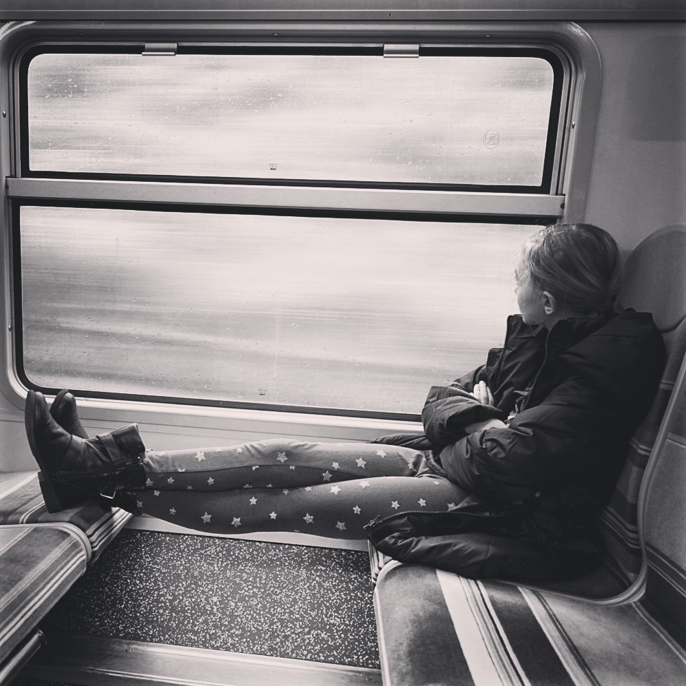 On the train to Versailles
