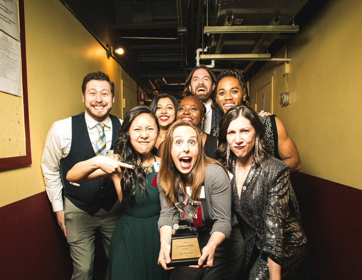 PLAINCLOTHES wins Jeff Award for Best Ensemble - It's the second time in three years that one of Spenser's casts has received this coveted honor; the AT THE TABLE cast won this category in 2017.