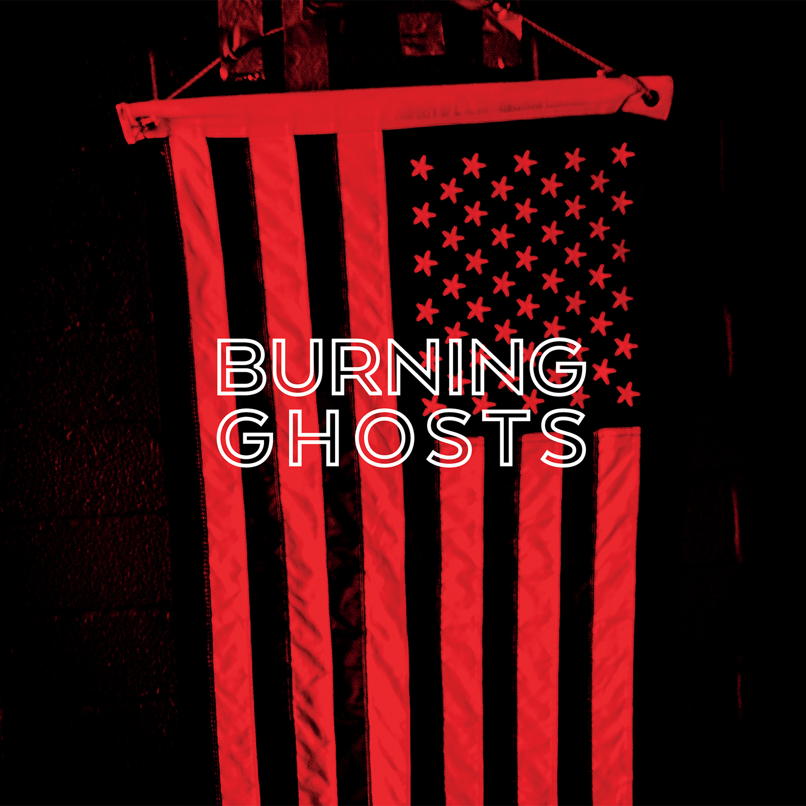 """Burning Ghosts"" Album Cover and Logo"