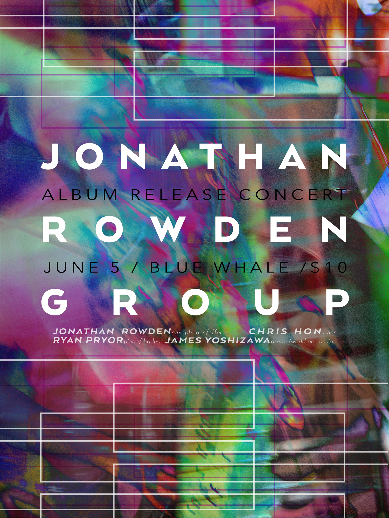 Jonathan Rowden Group Album Release Poster