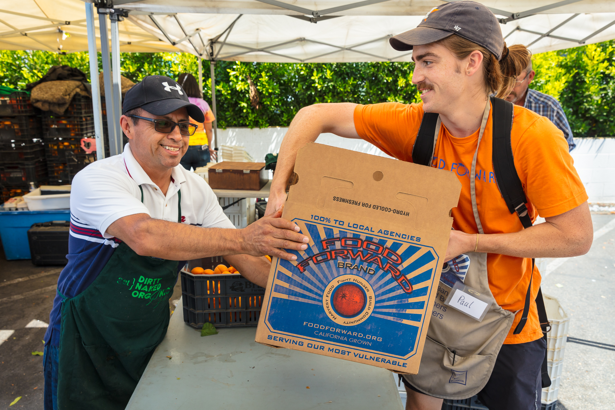 Food Forward works with local farmers to share California's bounty with those in need.