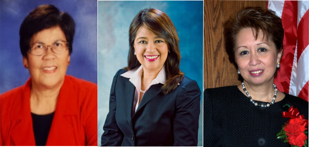 Left to right: Pat Gacoscos, US FWN100™ '11, Myrna L. De Vera, US FWN100™ '11, Joanne F. del Rosario, US FWN100™ '09