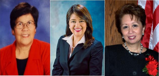 Left to right: Pat Gacoscos, US FWN100™ '11, Myrna L. De Vera, US FWN100™ '11, JoanneF. del Rosario, US FWN100™ '09