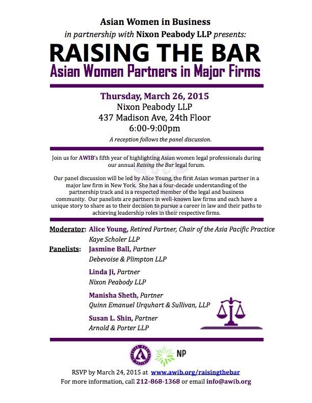 Raising the Bar: Asian Women Partners in Major Firms