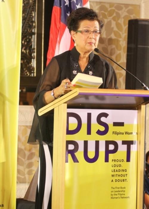 Gloria T. Caoile at the FWN Filipina Leadership Global Summit in Manila, Oct 17, 2014.