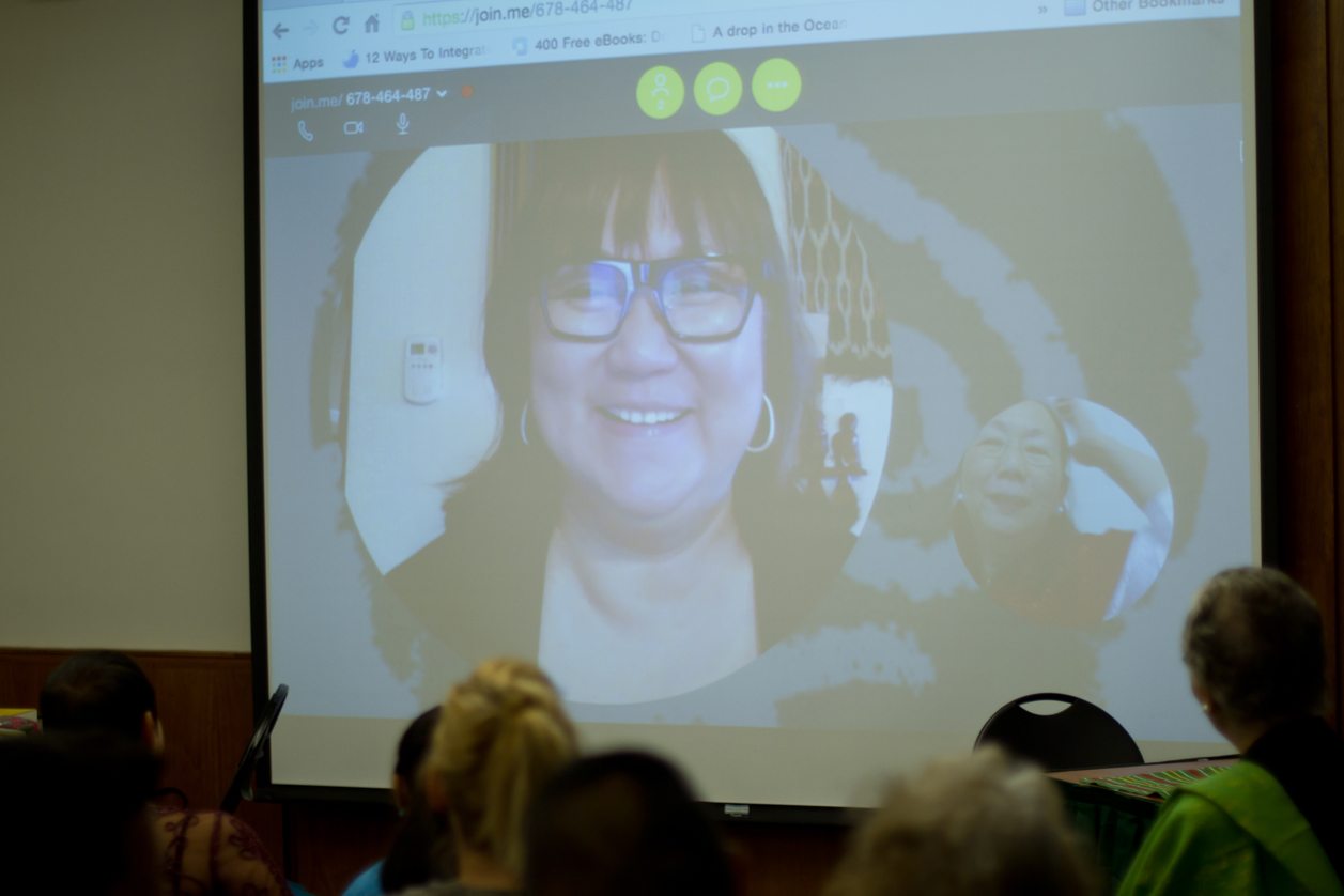 FWN CEO & Founder Marily Mondejar joined in for a video conference call.