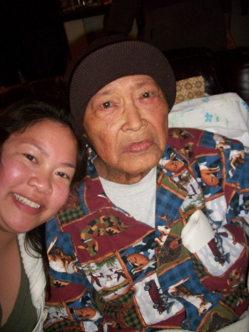 The author (Stephanie Lomibao, Global FWN100™ '15)and her Lolo.