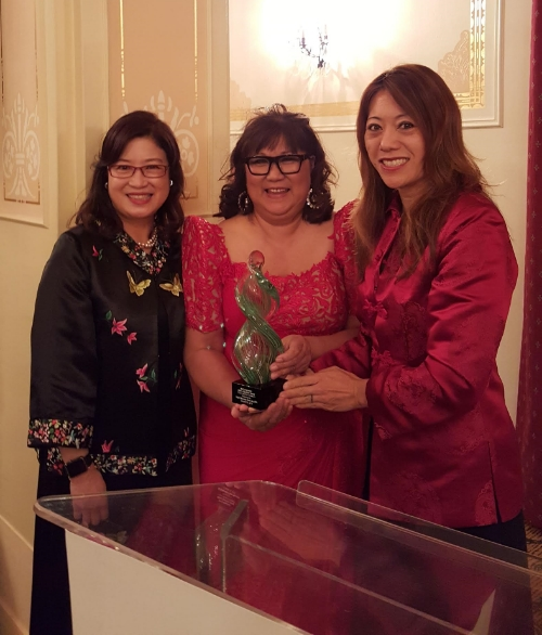 Pictured (L-R): San Francisco First Lady Anita Lee, Marily Mondejar, Fiona Ma. Photo credit: BOE Ma's Office.