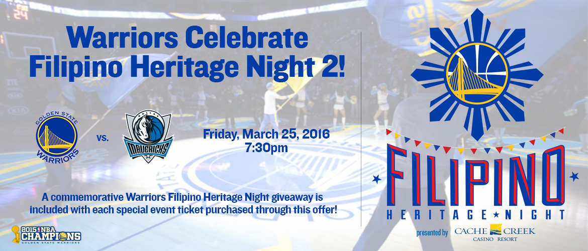 Warriors - Filipino Heritage Night