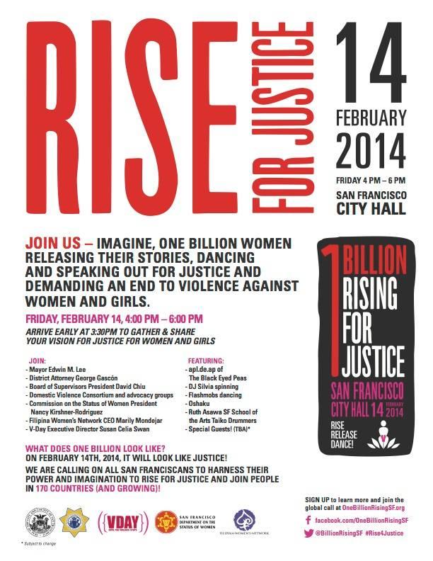 2014 V-Day FWN 1BillionRising San Francisco