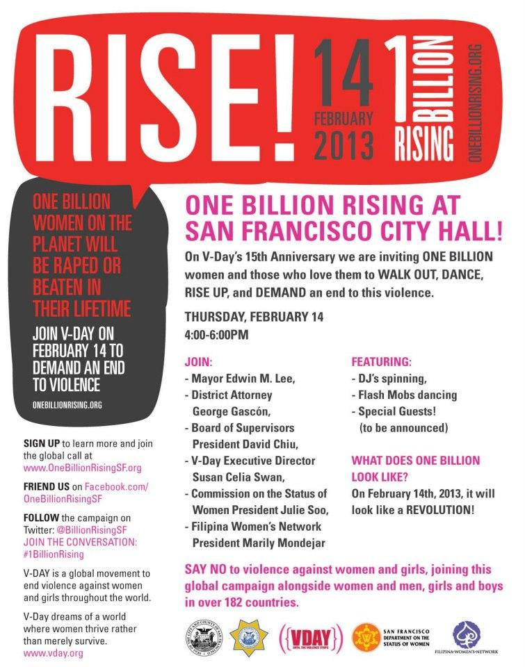 2013 V-Day FWN 1BillionRising San Francisco