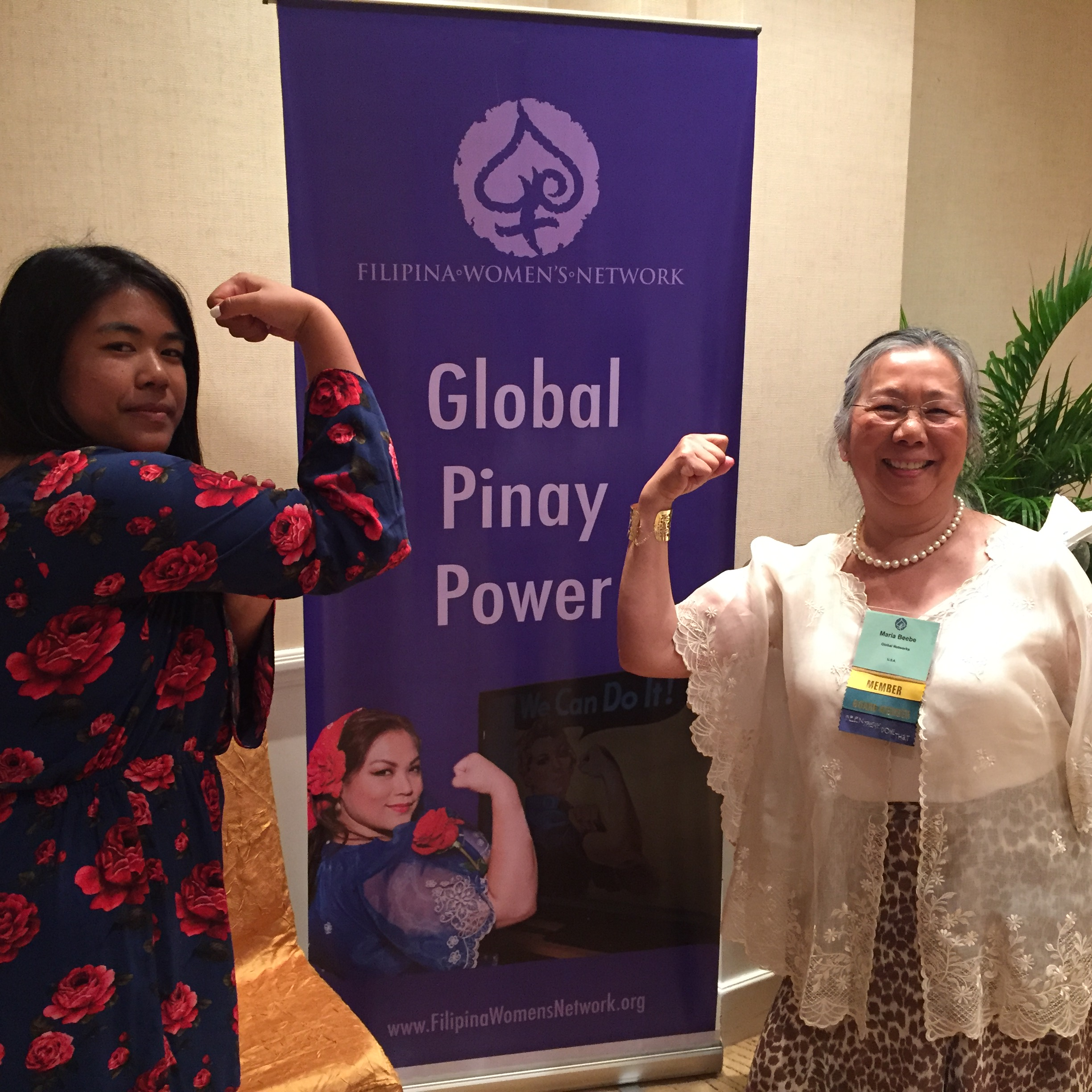 Leira Mae Digma (author) pictured with Dr. Maria Beebe, Editor of  DISRUPT 2.0: Filipina Women: Daring to Lead .  Own your copy now!