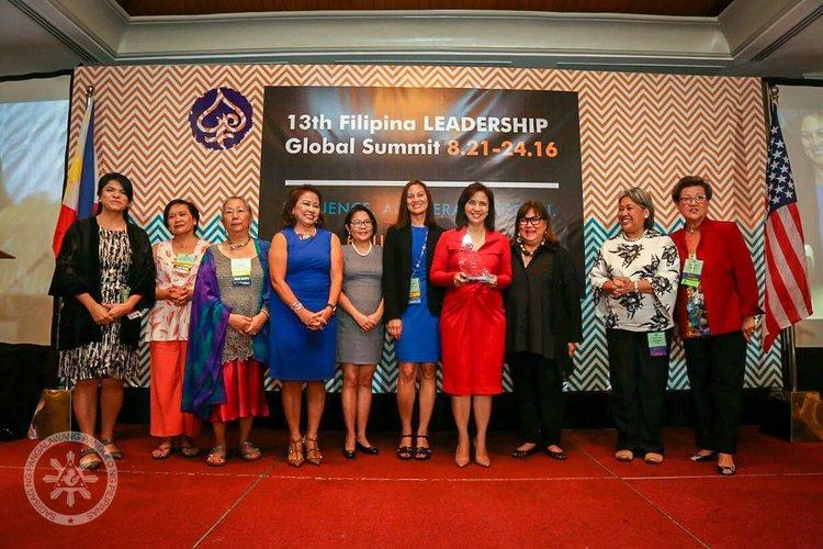 Madame Vice President Leni Robredo with Filipina Women's Network Board of Directors