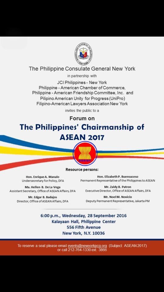 Philippines' Chairmanship of ASEAN 2017 Forum