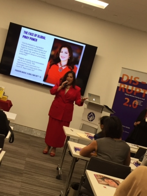 Francine Maigue, Global FWN100™ '15, Launches The Face of Global Pinay Power launches in her hometown of San Diego, California! #GlobalPinayPower