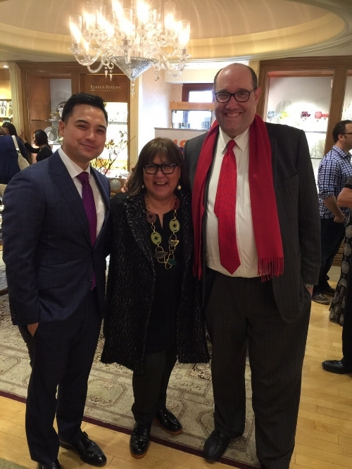 Michael Sudjati, CFO, Geary's, Marily Mondejar, Founder & CEO, Filipina Women's Network and Tom Blumenthal, CEO, Geary's. Tom and Michael graciously hosted FWN's DISRUPTing Beverly Hills Saturday, December 10, 2016.
