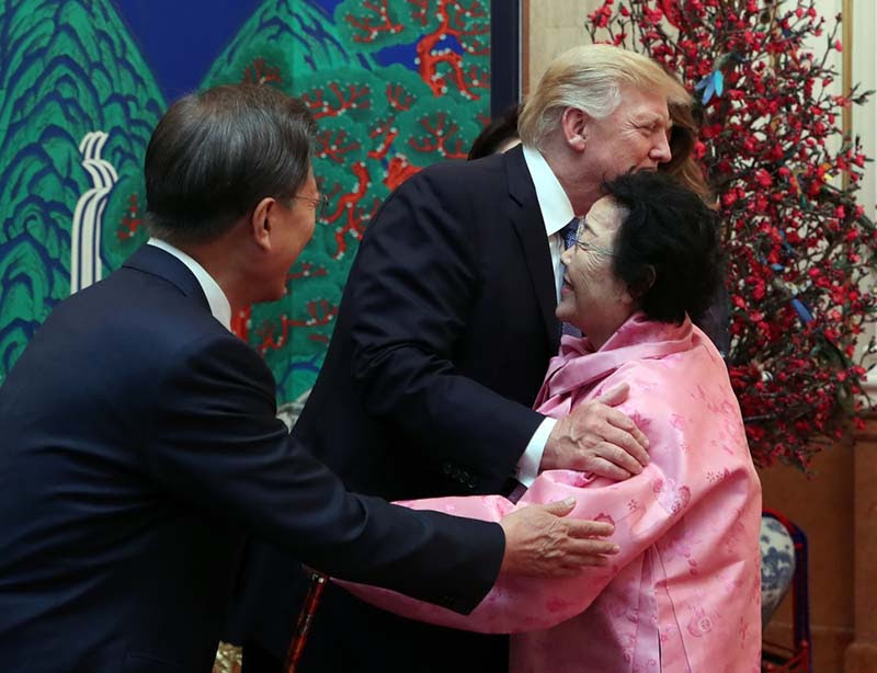 """As President Trump travels to Japan, Japanese officials launch media campaign attempting to """"rewrite"""" the wartime history. The meeting between the President Trump and the """"living proof"""" of the Japanese military sexual slavery halts the attempt."""