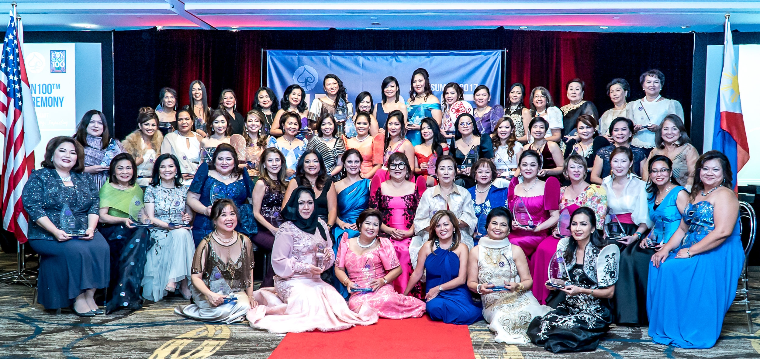 Global FWN100™ 2017 Awardees at the Intercontinental Toronto Centre, October 27, 2017
