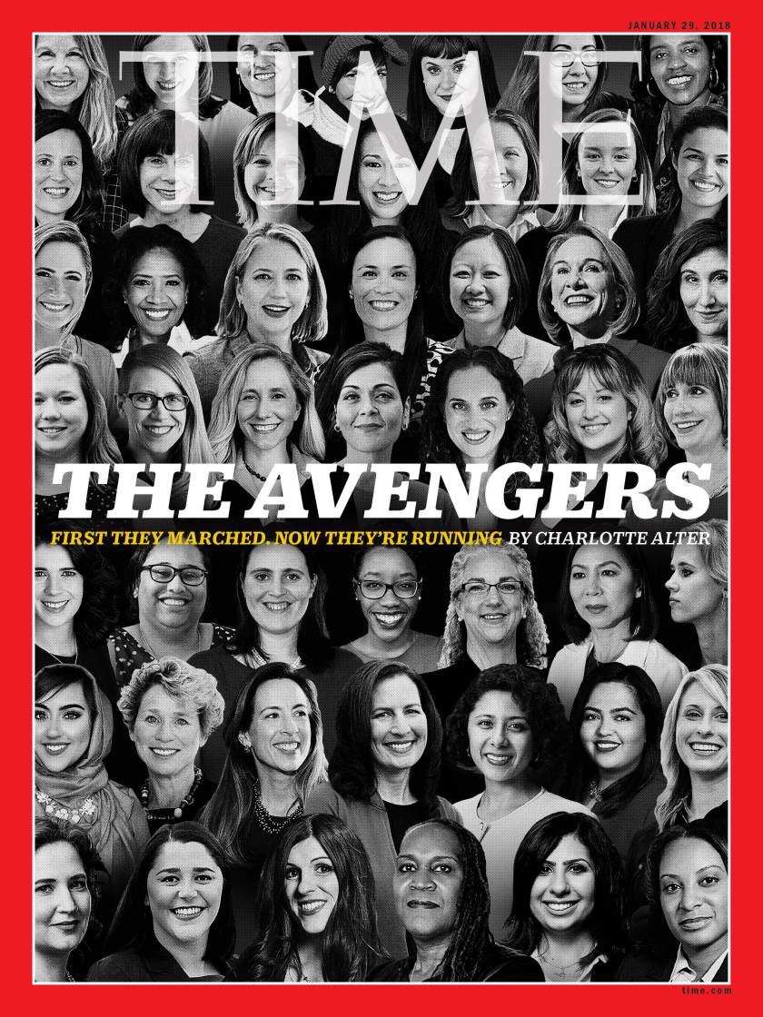 Gina Ortiz Jones on the cover of TIME Magazine's January 29, 2018 issue. Cover Photo by  TIME Magazine .
