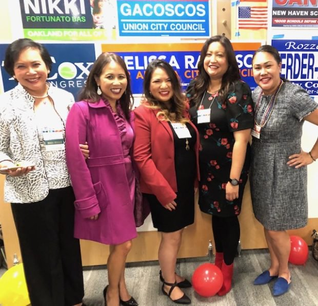 Women power rises with Berryessa Union School District Trustee Thelma Boac, Sierra Madre Council Member Rachel Pastor Arizmendi, Daly City Council Member Juslyn Manalo, Artesia Council Member Melissa Ramoso and State Treasurer Fiona Ma Chief of Staff Genevieve Jopanda. INQUIRER/CM Querol Moreno